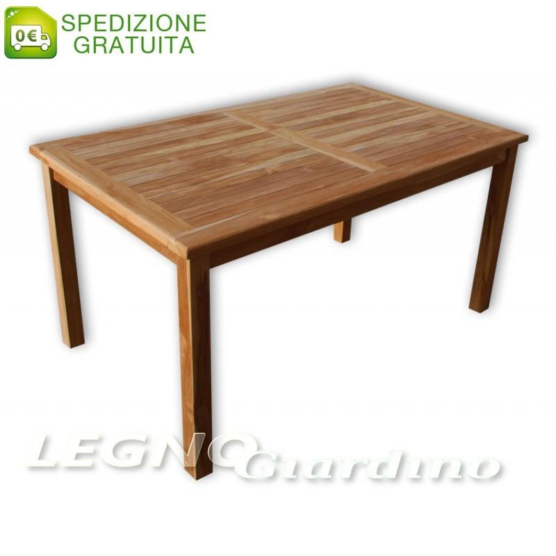 Tavoli Da Giardino In Teak.Tavolino Rettangolare Da Giardino 180x90 In Legno Teak