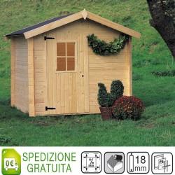 Casetta Cinzia 180x220 legno di abete spessore 18 mm