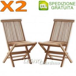 Sedie legno teak