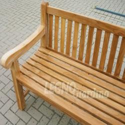 panca in legno teak 2 posti