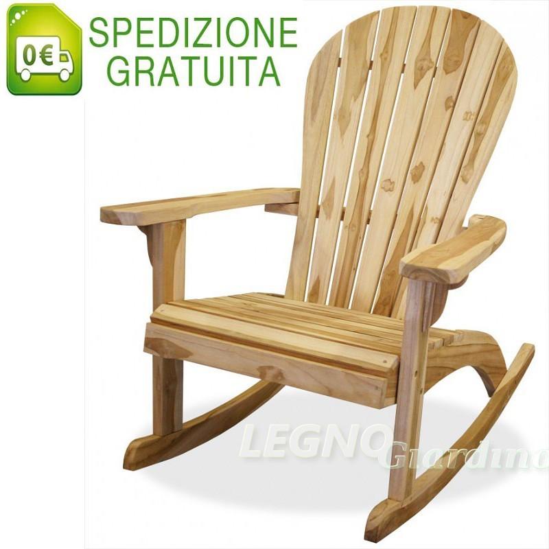Sedia A Dondolo Teak.Sedia A Dondolo In Legno Teak Con Braccioli